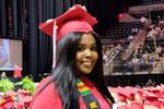 Kenette Toussaint at graduation